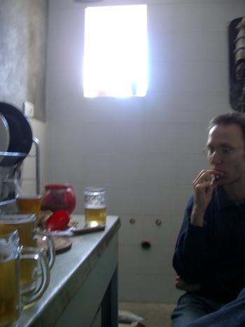 Buenos Aires 2005 - yura breakfast beer