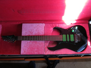 "1991 Ibanez UV70BK ""Green Dot"""