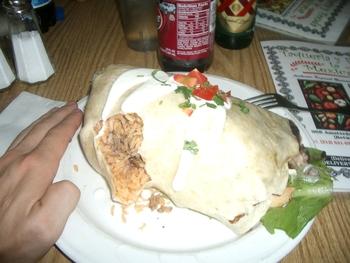 Tucker's burrito