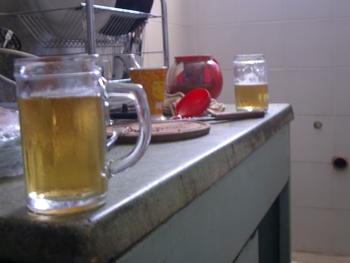 Buenos Aires 2005 - breakfast beer