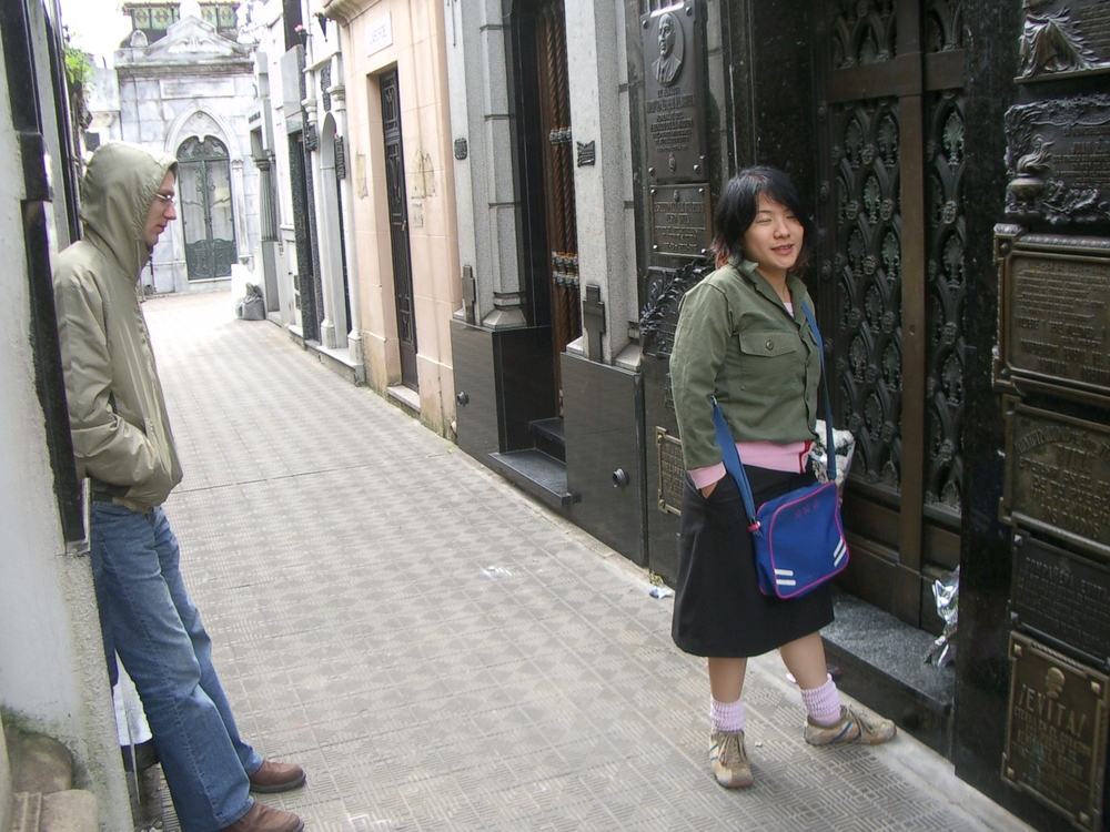 Buenos Aires 2005 - yura, lani, and Evita's tomb
