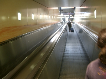inclined moving sidewalk