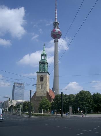 radio tower as soccer ball
