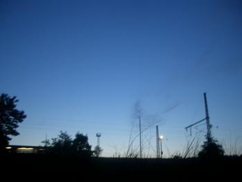 east berlin night sky