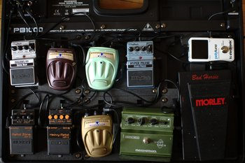 the pedalboard
