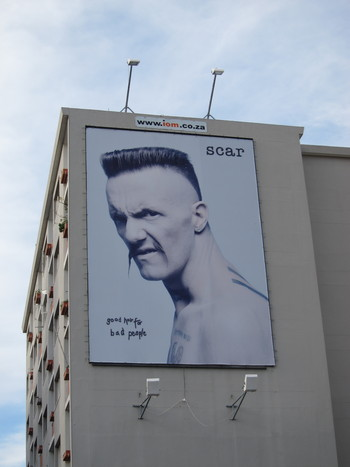 Ninja on a billboard
